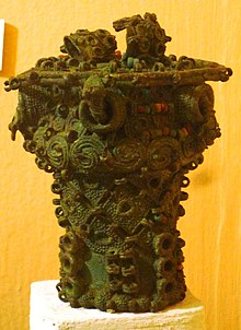 Intricate bronze ceremonial pot, 9th century, Igbo-Ukwu