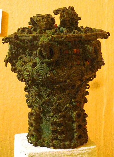 Ceremonial Igbo pot from 9th-century Igbo-Ukwu. Intricate bronze ceremonial pot, 9th century, Igbo-Ukwu, Nigeria.jpg