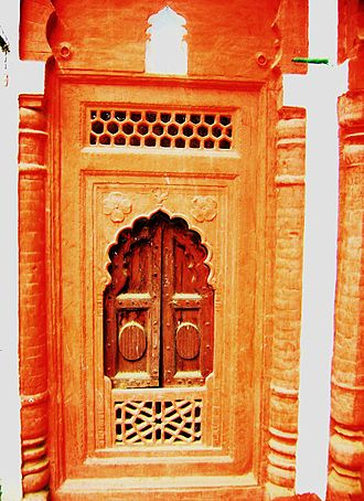 Pelkha - Image: Intricate work at the Haveli