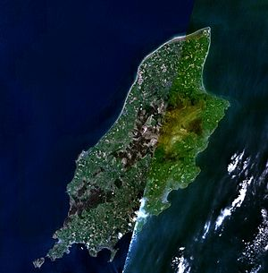 Isle of Man - A composite satellite image of the Isle of Man