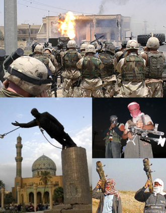 Iraq War - Image: Iraq War montage