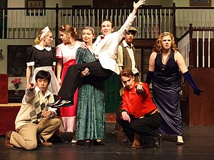 Bishop Ireton High School - The cast and crew of Something's Afoot at Bishop Ireton High School were nominated for 13 Cappie Awards, a record high for the school.