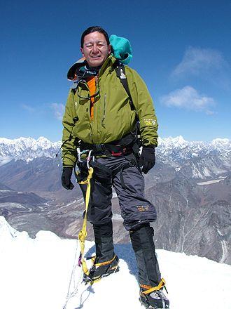 Jamling Tenzing Norgay - Jameling Tenzing Norgay at the Island Peak summit.