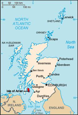 kart over skottland Isle of Arran – Wikipedia kart over skottland