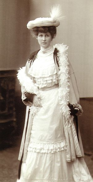 Anthroposophic medicine - Ita Wegman, co-founder of the medical approach, before 1900 in Berlin.