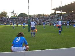 Una fase di Italia - Australia, test match di rugby del 2006