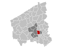 Vị trí của Izegem in West Flanders