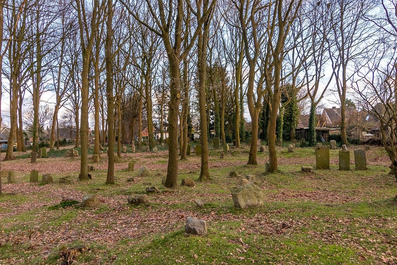 Grabsteine auf dem jüdischen Friedhof Westerrönfeld