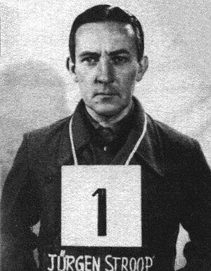 Jürgen Stroop - Jürgen Stroop in U.S. military custody, 1945