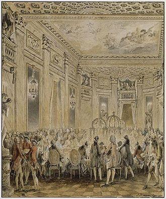 Jean-Michel Moreau - Jean-Michel Moreau the Younger, Fête donnée à Louveciennes le 2 septembre 1771 (Musée du Louvre)