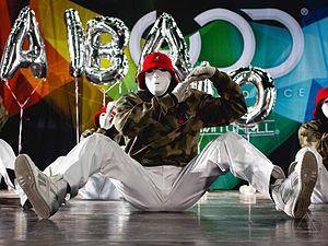 Jabbawockeez - Jabbawockeez performing with their trademark white masks