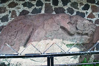 Teotenango - Jaguar relief at main entrance to city