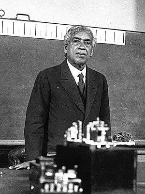"Jagadish Chandra Bose - Bose lecturing on the ""nervous system"" of plants at the Sorbonne in Paris in 1926"