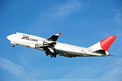 JAL Cargo Boeing 747-400 takes off