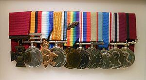 James Newland - James Newland's medals at the Australian War Memorial, Canberra.