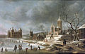 Jan Abrahamsz Beerstraaten (Amsterdam 1622-1666) - A winter landscape with activities on the ice near Castle Buren.jpg
