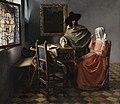 Jan Vermeer van Delft - Het glas wijn (1658-60).jpg