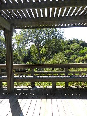 Japanese Gardens (Hayward, California) - gardens from observation deck