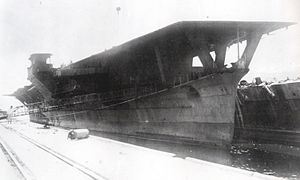 Japanese cruiser Ibuki (1943) - Image: Japanese aircraft carrier Ibuki cropped