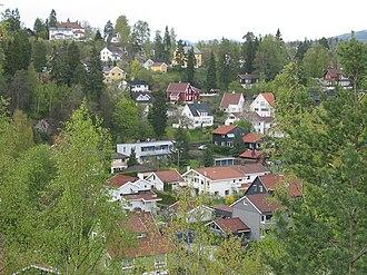 Jar, Norway - A view of lower Jar.