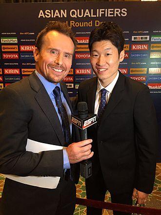 Jason Dasey - Jason Dasey and Park Ji-sung at 2018 World Cup draw in Kuala Lumpur