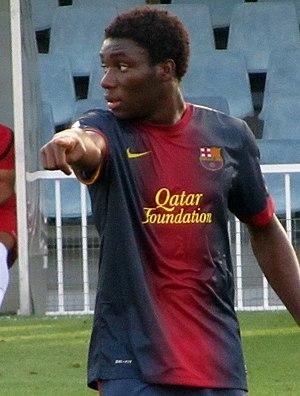 Jean Marie Dongou - Dongou playing for Barcelona B in 2012
