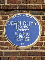 Jean Rhys 1890-1979 Writer lived here in Flat 22 1936-1938.jpg