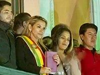 Jeanine Áñez assuming presidency.jpg
