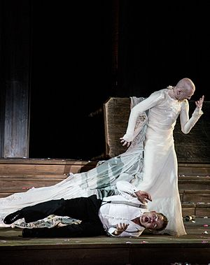 Salzburg Festival - Jedermann and the Death, Salzburg Festival 2014 Foto: Francisco Peralta Torrejón