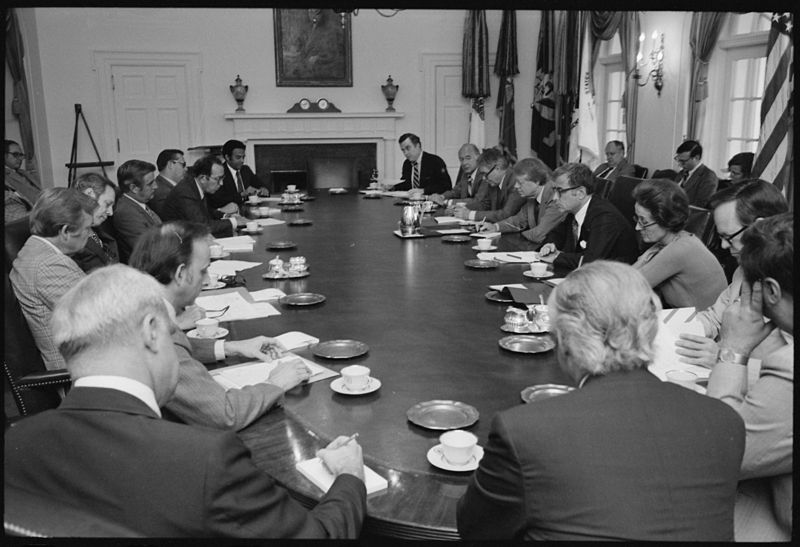 Jimmy Carter convenes a cabinet meeting - NARA - 175123.jpg