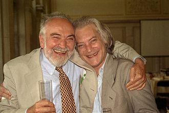 Mitchell Feigenbaum - Mitchell Feigenbaum (right) and Joel Lebowitz (left), 1998
