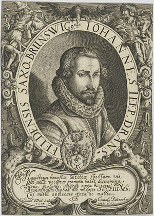 Johannes Jeep - Johannes Jeep, frontispiece from Studentengartlein (1614).