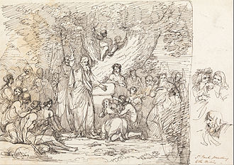 John Hamilton Mortimer - Saint Paul Preaching to the Britons, drawing, (between 1775 and 1778)