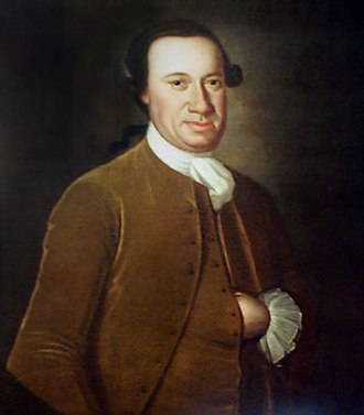 John Hesselius - Portrait of John Hanson, first president of Congress after ratification of the Articles of Confederation.  Painted by Hesselius around 1770.
