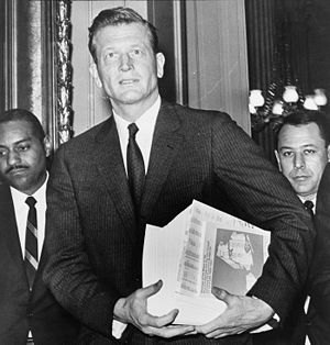 John Lindsay - Lindsay carrying his budget, c. April 1966