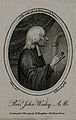 John Wesley. Stipple engraving by W. Ridley after J. Miller. Wellcome V0006246ER.jpg