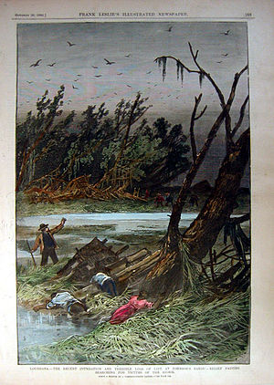 1886 Atlantic hurricane season - Corpses in Johnson Bayou, Louisiana, following the October hurricane
