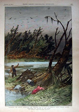 1886 Atlantic hurricane season - Corpses in Johnson Bayou, Louisiana, following the October hurricane
