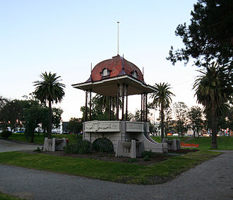 Johnstone Park - Hitchcock Memorial Bandstand in the centre of the park