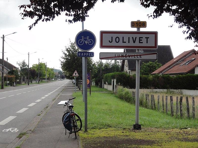 Jolivet (M-et-M) city limit sign