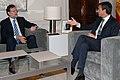 José Luis Rodríguez Zapatero recibe al jefe de la oposición, Mariano Rajoy, en La Moncloa (2010).jpg