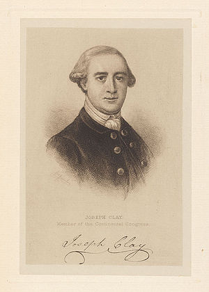Pennsylvania's 1st congressional district - Image: Joseph Clay