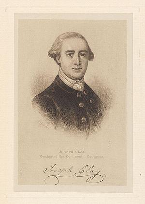 Pennsylvania's 1st congressional district - Image: Joseph Clay