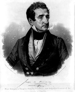 Joseph N Hernandez, First Delegate to Congress from the Territory, and Brigadier General of the Militia of Florida