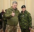 Julie Payette with Petro Poroshenko in Ukraine - 2018 - (1516277406).jpg
