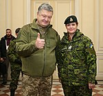 Julie Payette with Petro Poroshenko in Ukraine - 2018 - (1516277406).jpg