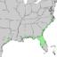 Juniperus virginiana var silicicola range map 3.png