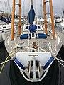 Junk yacht Boleh, viewed bows-on.jpg