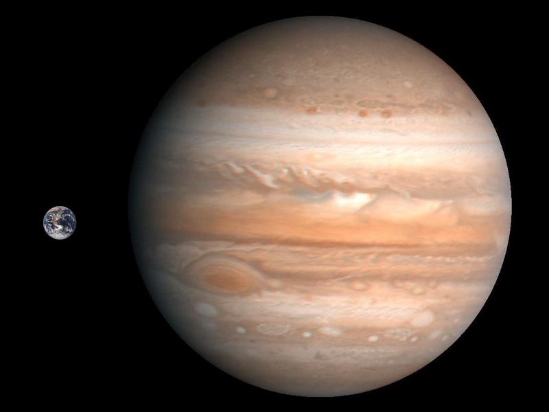Jupiter Earth Comparison