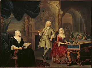 Family portrait of Sara Rothé and Jacob Ploos van Amstel with Sara's mother